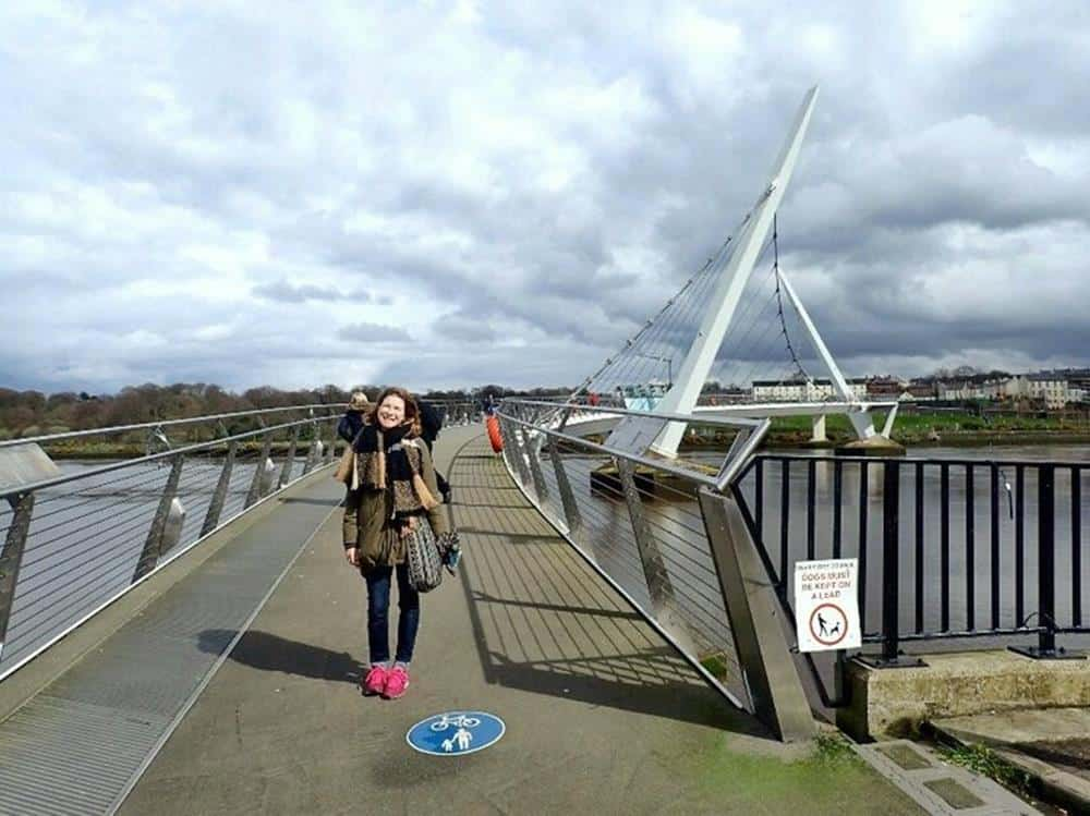 Sarah at peace bridge