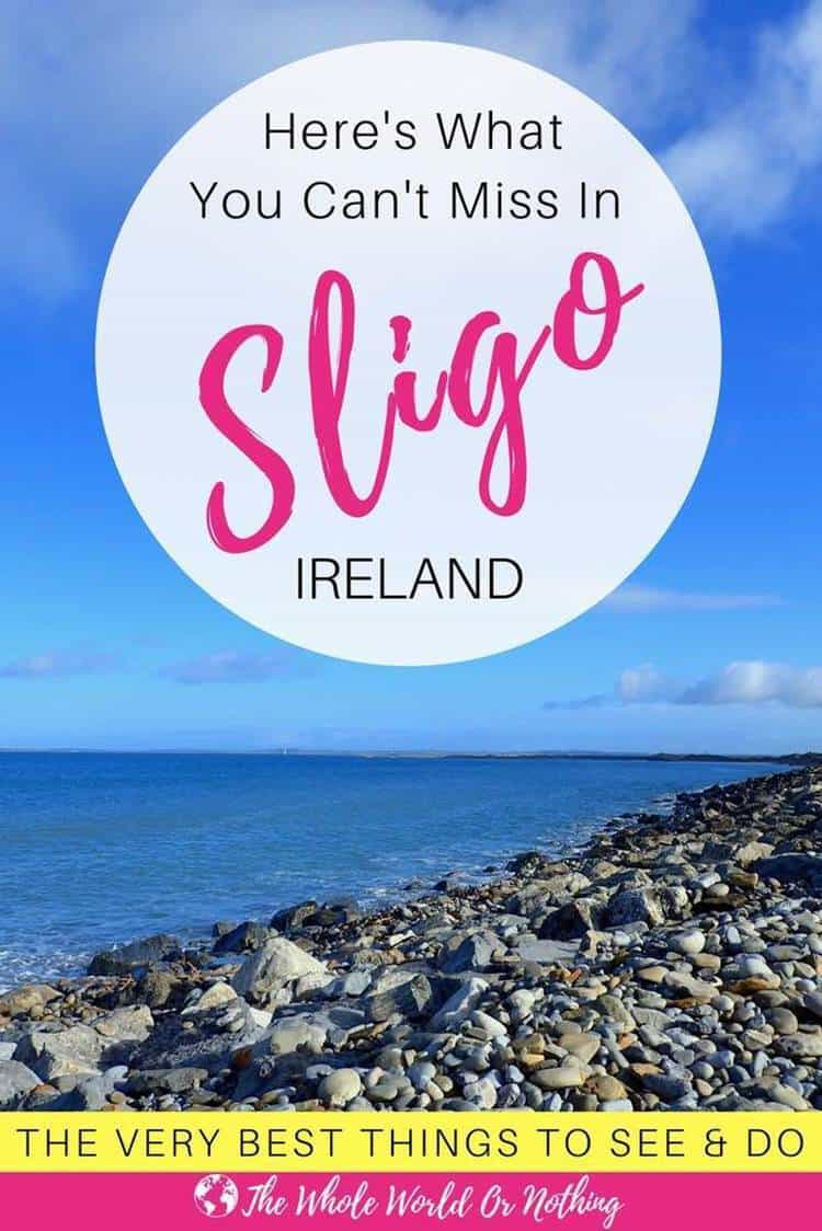 Strandhill beach with text overlay here's what you can't miss in Sligo Ireland