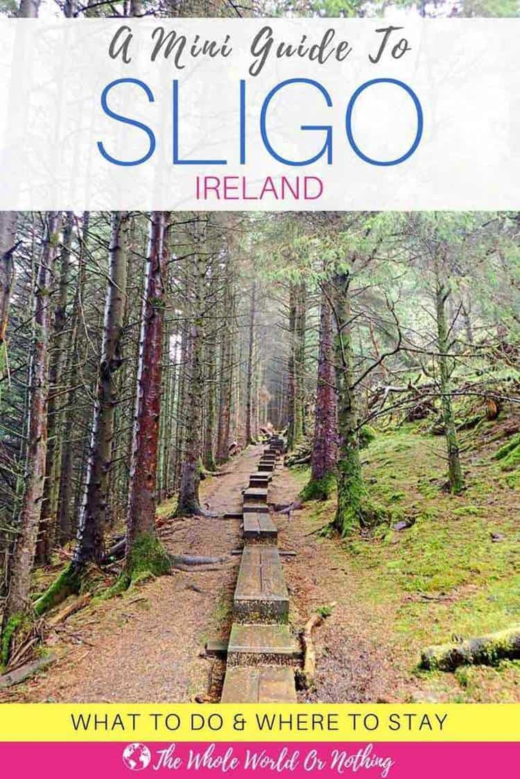 forest with text overlay A mini guide to Sligo Ireland