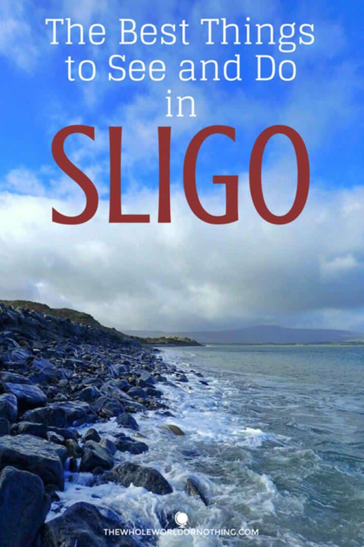 rocks on the shore with text overlay THE BEST THINGS TO SEE AND DO IN SLIGO