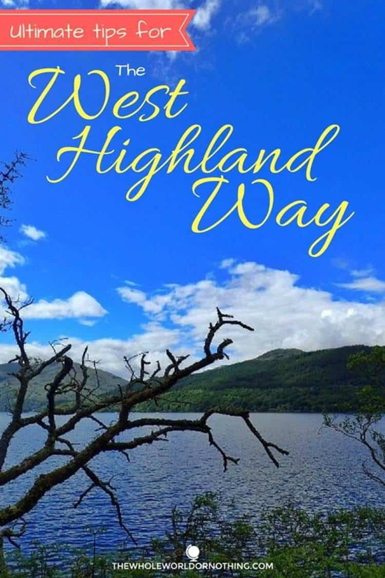 Mountain and trees with text overlay 11 ESSENTIAL WEST HIGHLAND WAY TIPS