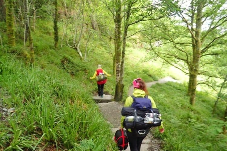 Walking the West Highland Way with big Backpacks