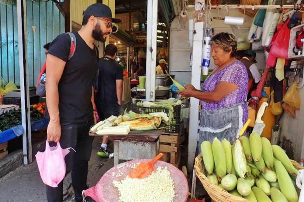 James buying corn