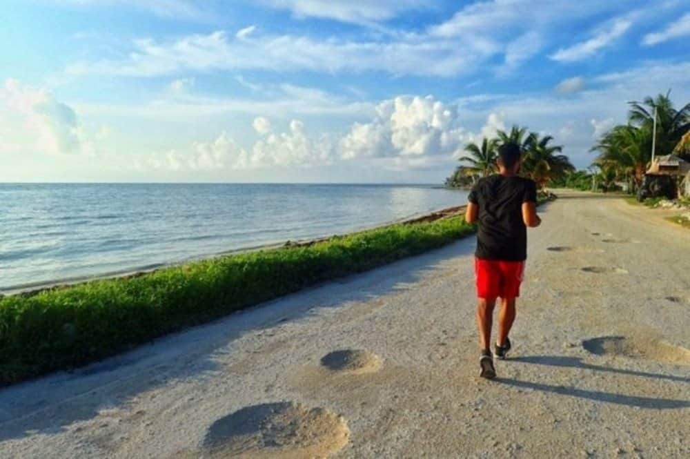 James jogging