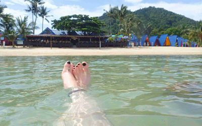 Koh Samui beach from water