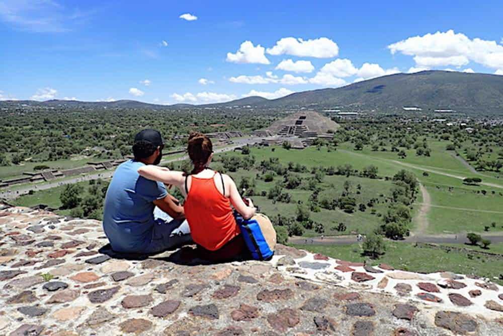 James and Sarah at Teotihuacan