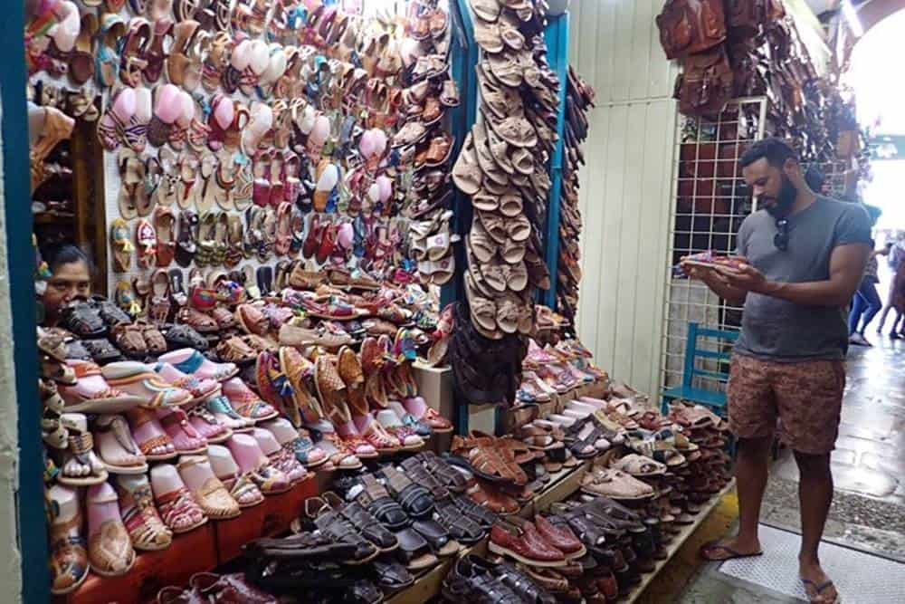 James-at-shoe-store-at-the-market