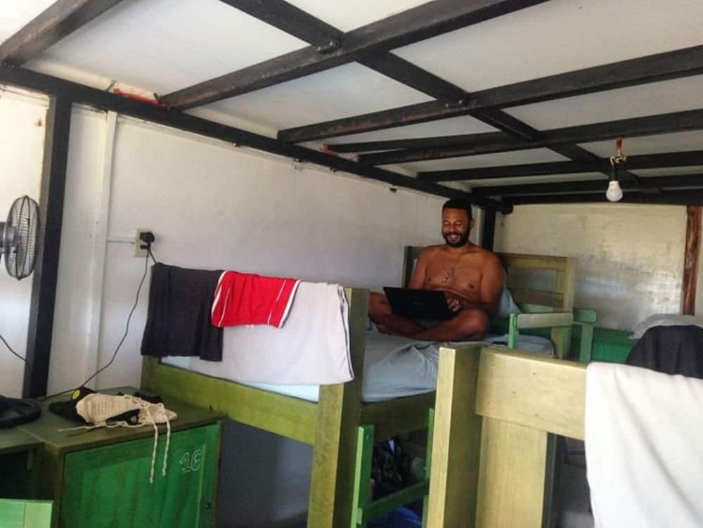 James at a bunk bed