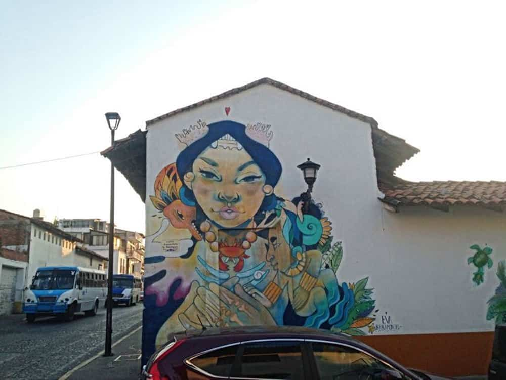 mural at the street
