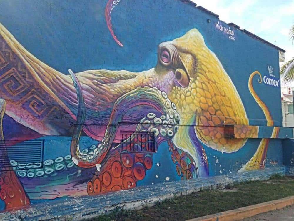 mural - octopus
