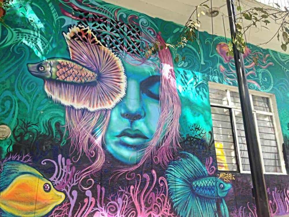 woman - mural