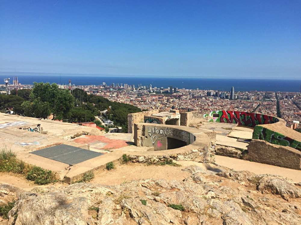 Bunkers Barcelona and view of the city