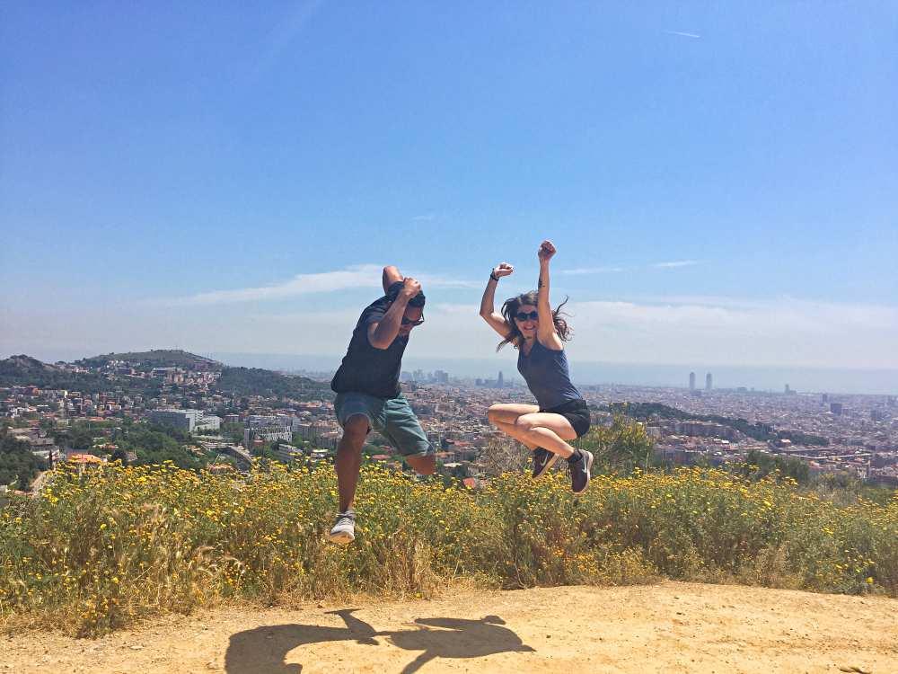 James & Sarah Jumping