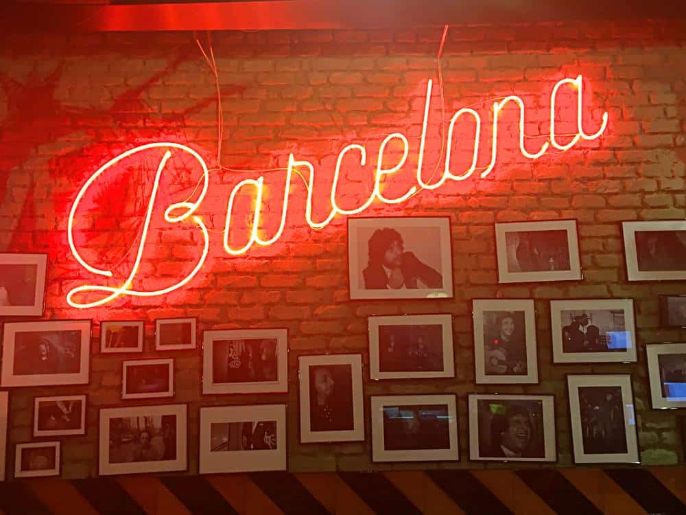 Neon Red Barcelona Sign