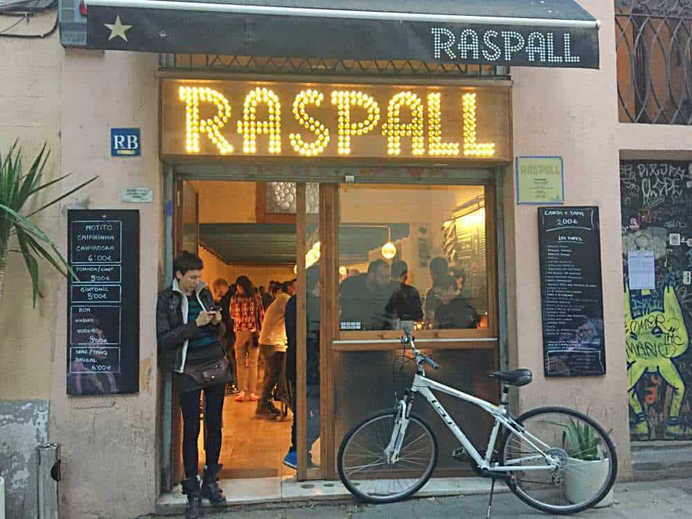 Front of Raspall Bar in Gracia Barcelona