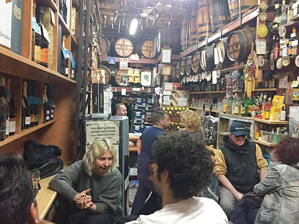 Inside a traditional Spanish Bodega