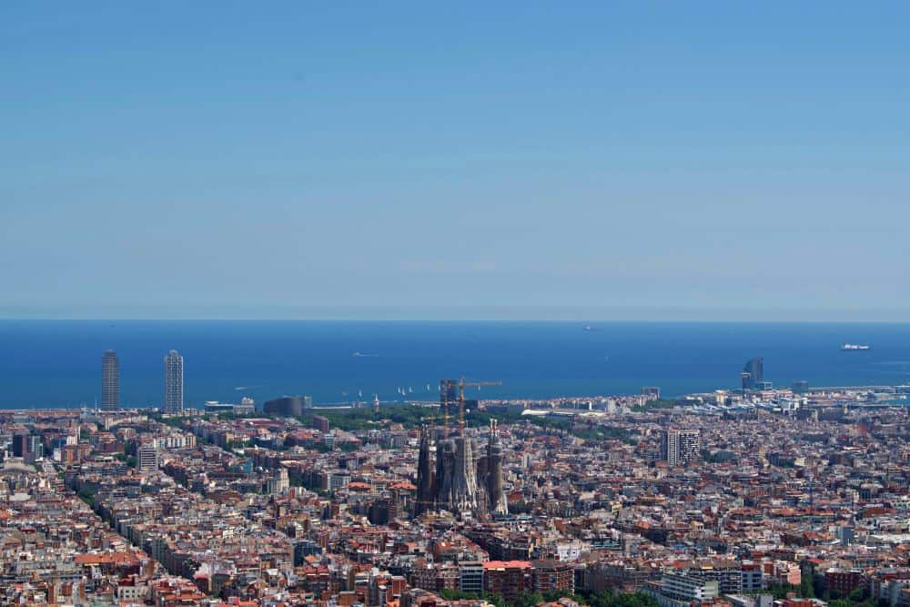 View from Bunkers Barcelona from above