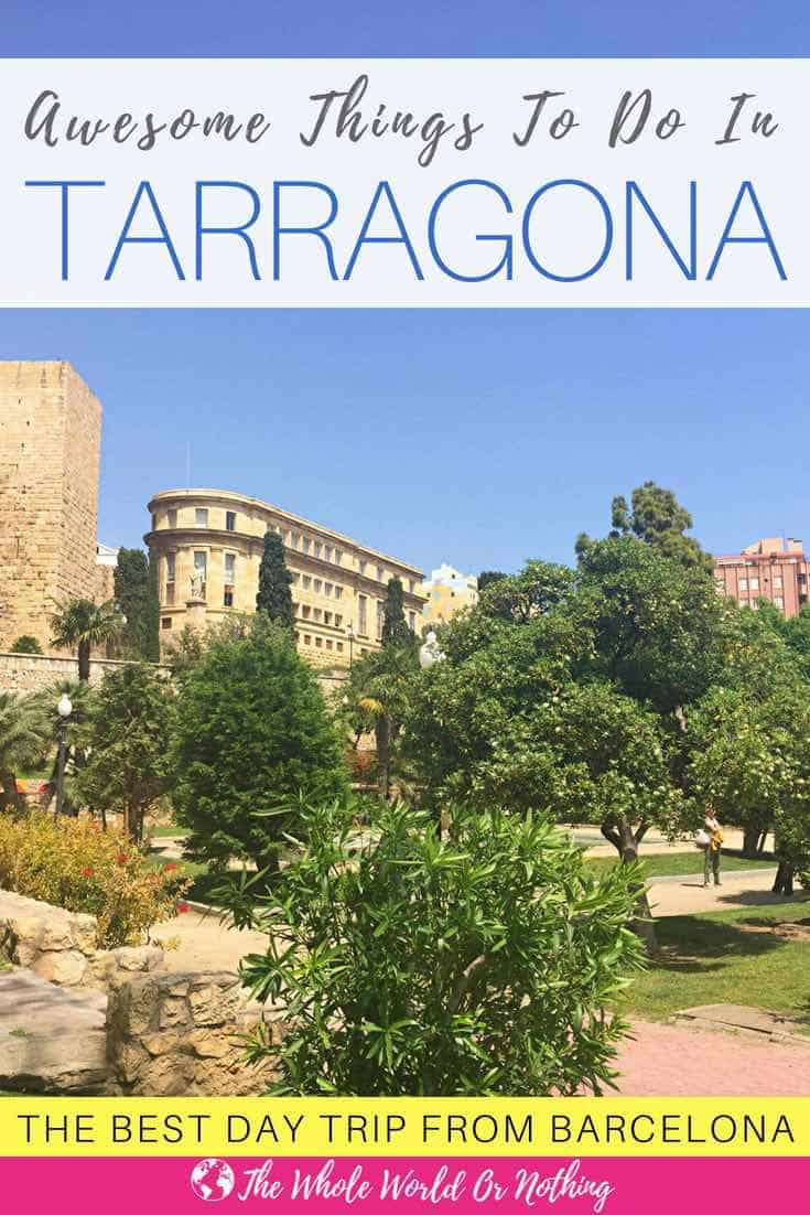 An awesome side trip from Barcelona, here's all the best things to do in Tarragona & how to get there. From Roman ruins to beautiful beaches, Tarragona is one of the most stunning European cities | #tarragona #spain #spaintravel #catalonia #romanruins #beautifulplaces #romantictravel #coupletravel #barcelonatravel