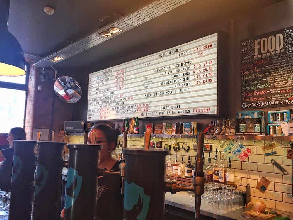 Brewdog best bars in Nottingham