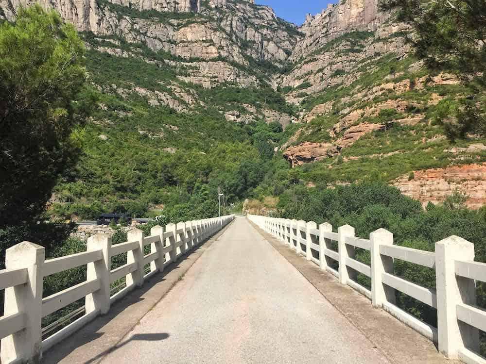 Bridge over River Llobregat Montserrat