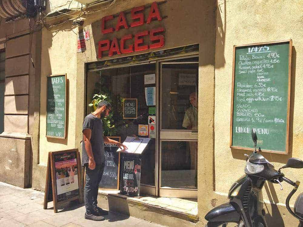 Casa Pages Best Restaurants in Gracia Barcelona