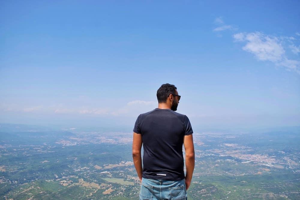 James enjoying views on Montserrat Mountain