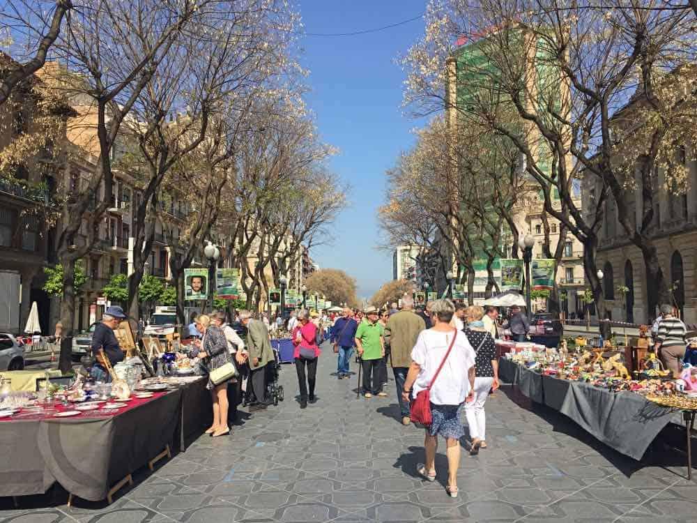 La Rambla Nova must see in Tarragona