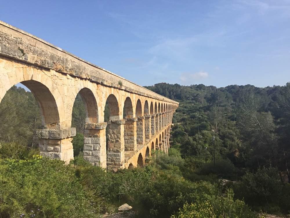 Les Ferreres Aqueduct architecture in Tarragona