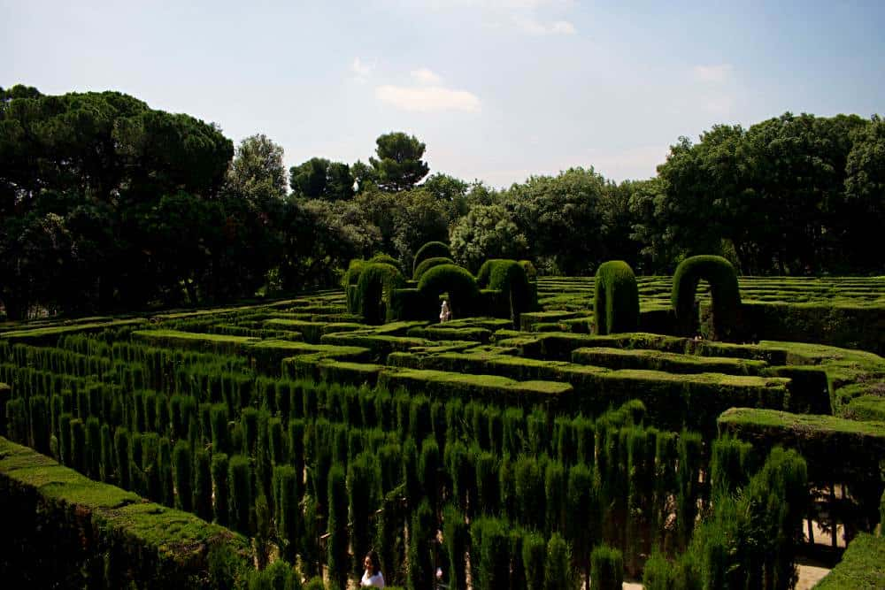 Maze in Parc del Laberint d'Horta