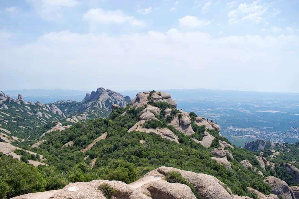 Montserrat Mountains Near Barcelona