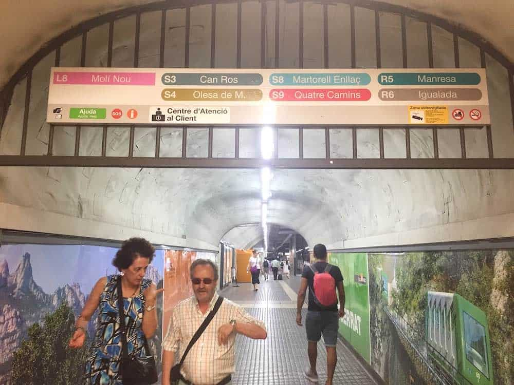 Plaça Espanya to Montserrat Train