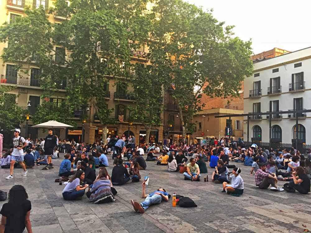 Placa del Sol Gracia Barcelona