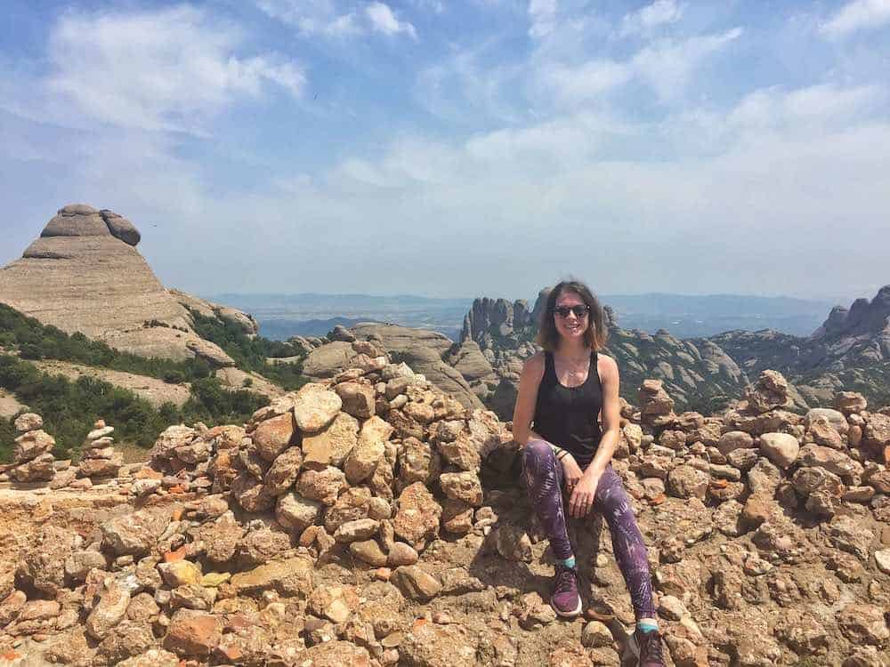 Sarah on Montserrat Barcelona Hike