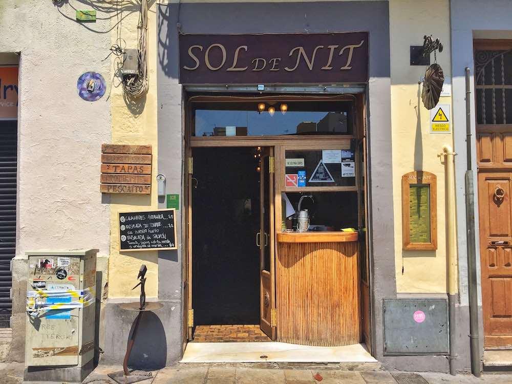 Sol de Nit Restaurant in Gracia Barcelona