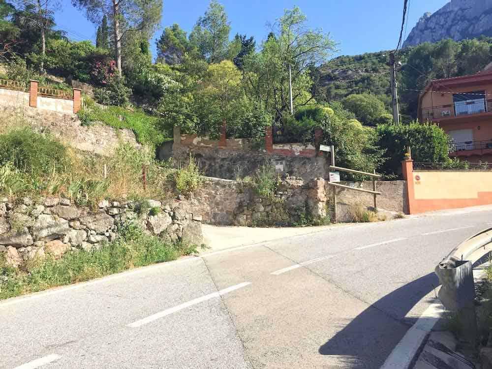 Start of Hiking Trail Monistrol de Montserrat