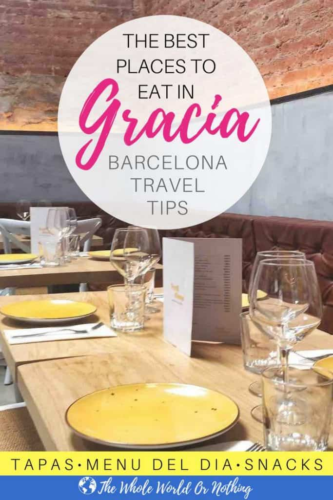 Verdi Dinou Restaurant with text overlay The Best Places To Eat In Gracia Barcelona