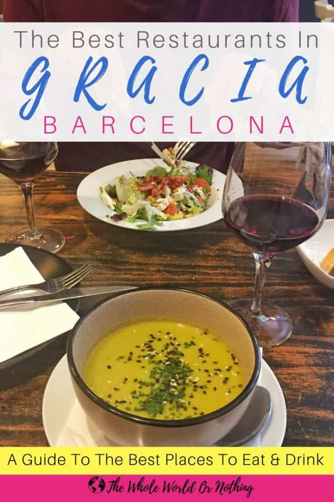 La Bicycleta food with text overlay The Best Restaurants In Gracia Barcelona