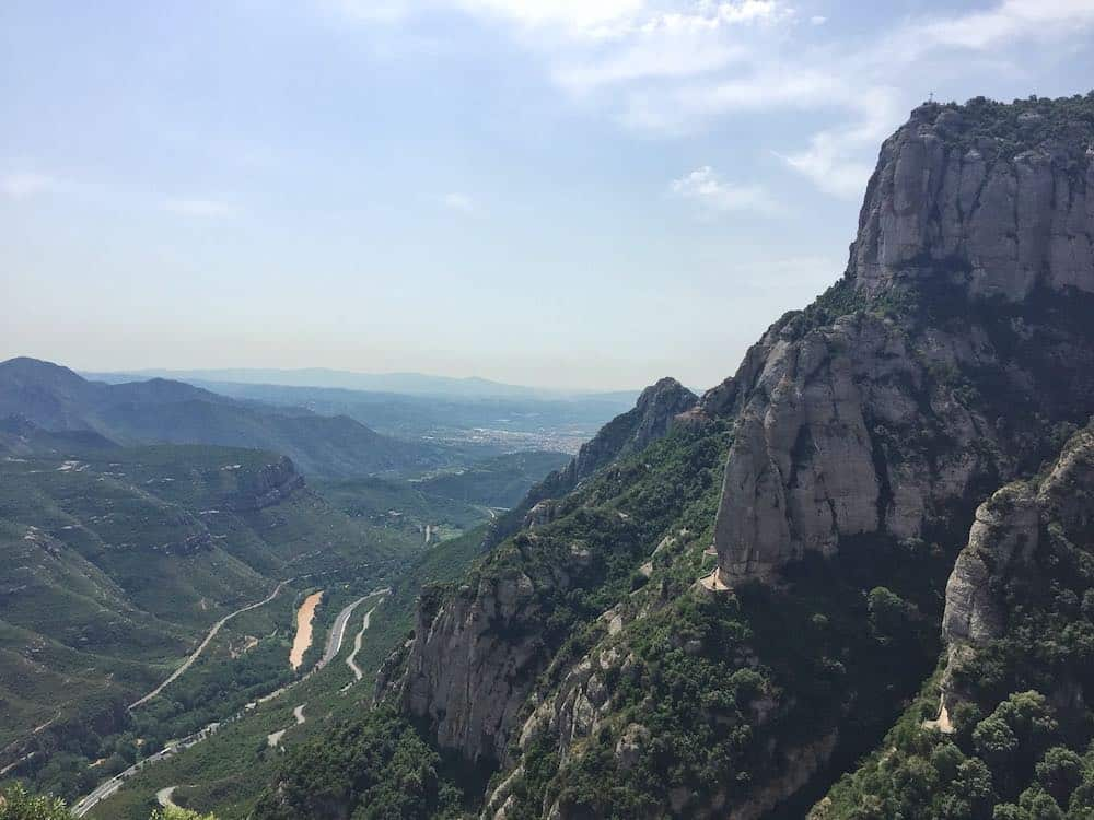 View of River El Llobregat and Llobregat Valley