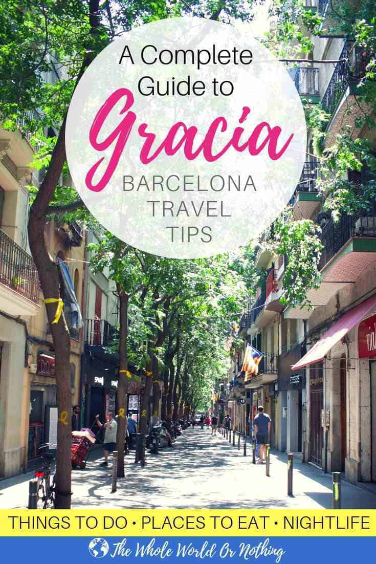 Carrer Verde with text overlay A Complete Guide to Gracia Barcelona