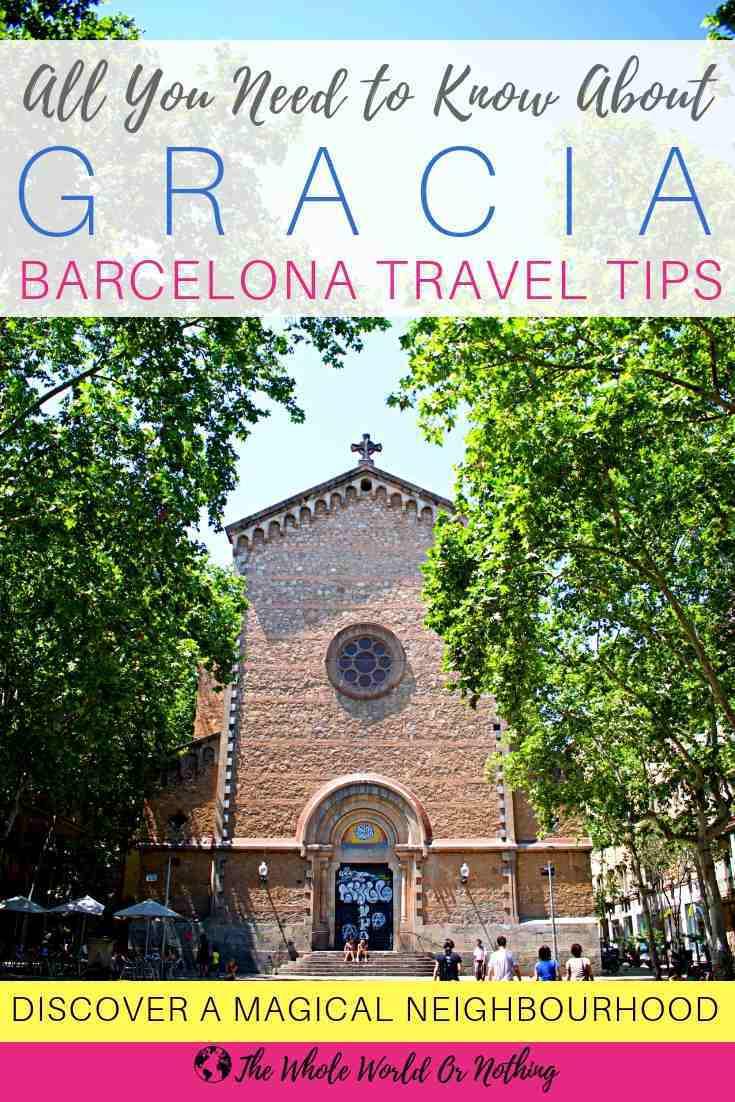 Placa Virreina with text overlay All You Need to Know About Gracia Barcelona