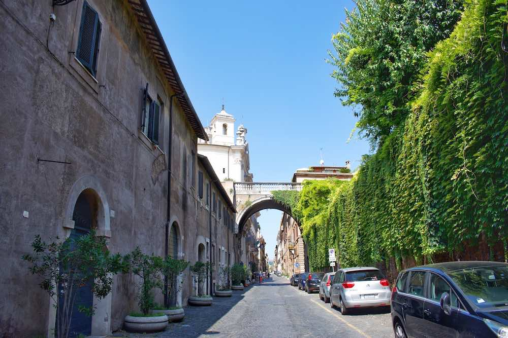 Farnese Arch On Via Giulia
