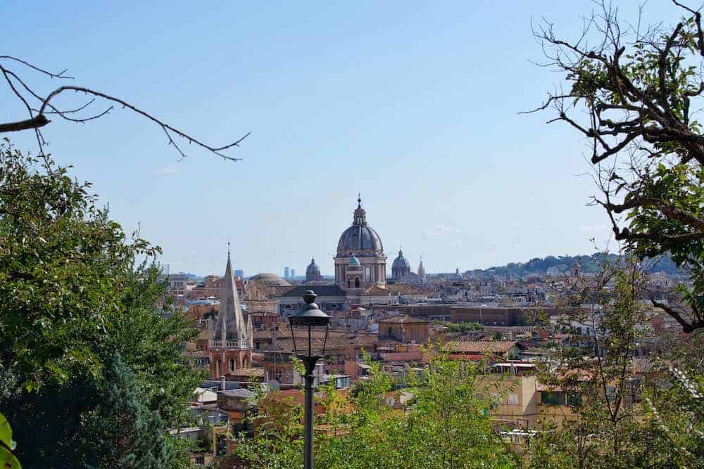 Unusual Place To Visit In Rome Pincian Hill View