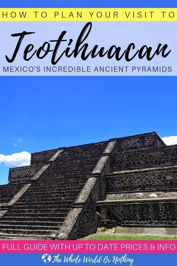 Visiting Mexico City? Be sure to take a day trip to see the incredible pyramids of Teotihuacan & take a glimpse into ancient Mayan civilisation. Click through for all the info you need about how to get there | #mexico #mexicocity #visitmexico #mexicotravel #latinamerica #travel #backpacking #wanderlust #bucketlist
