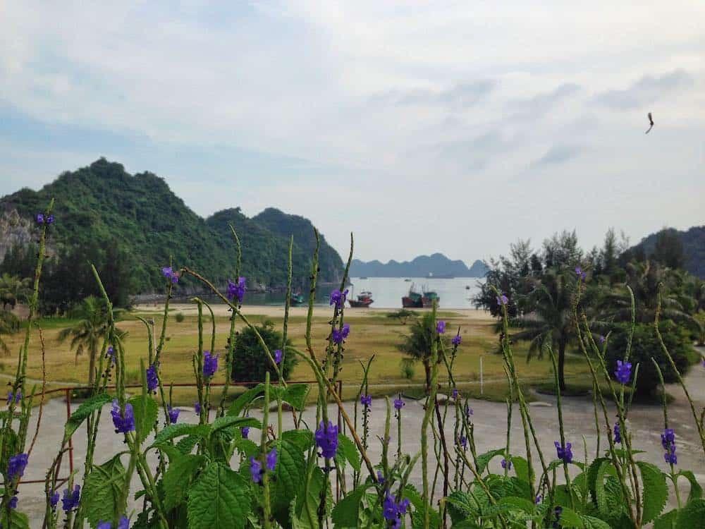 Cat Ba Island Vietnam beach view