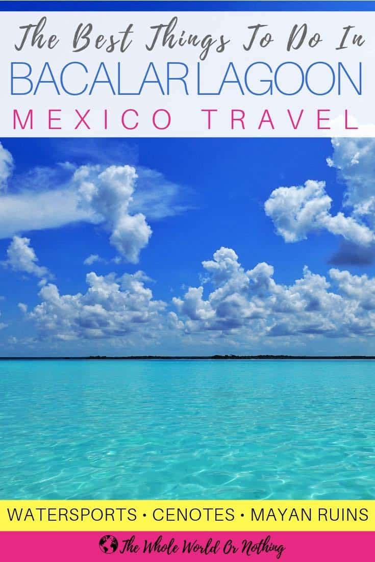 One of the most beautiful & serene places in Mexico - you simply have to visit Bacalar Lagoon. From where to stay, to the best restaurants & all the best things to do in Bacalar Lagoon, here's all you need to plan your trip | #beautifulplaces #travel #backpacking #mexico #amazingplaces #honeymoon #nextvacation