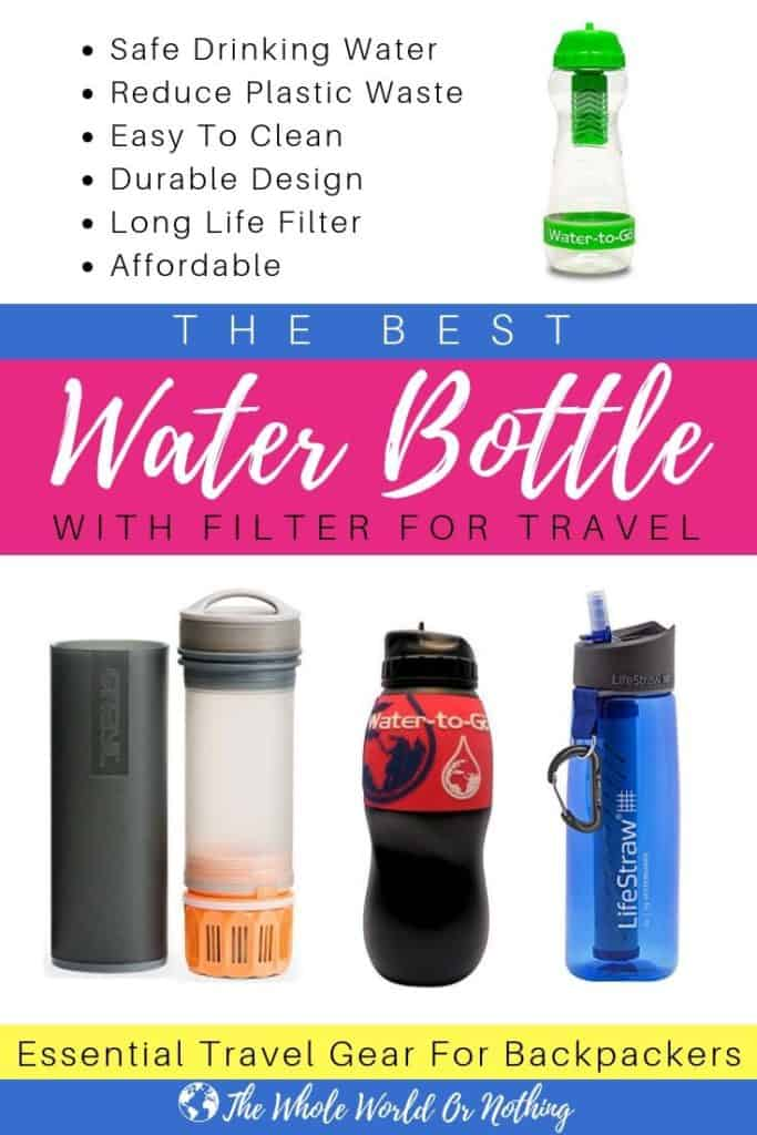 7f103e1b934d The Best Water Bottle With Filter for Travel 2019 - The Whole World ...