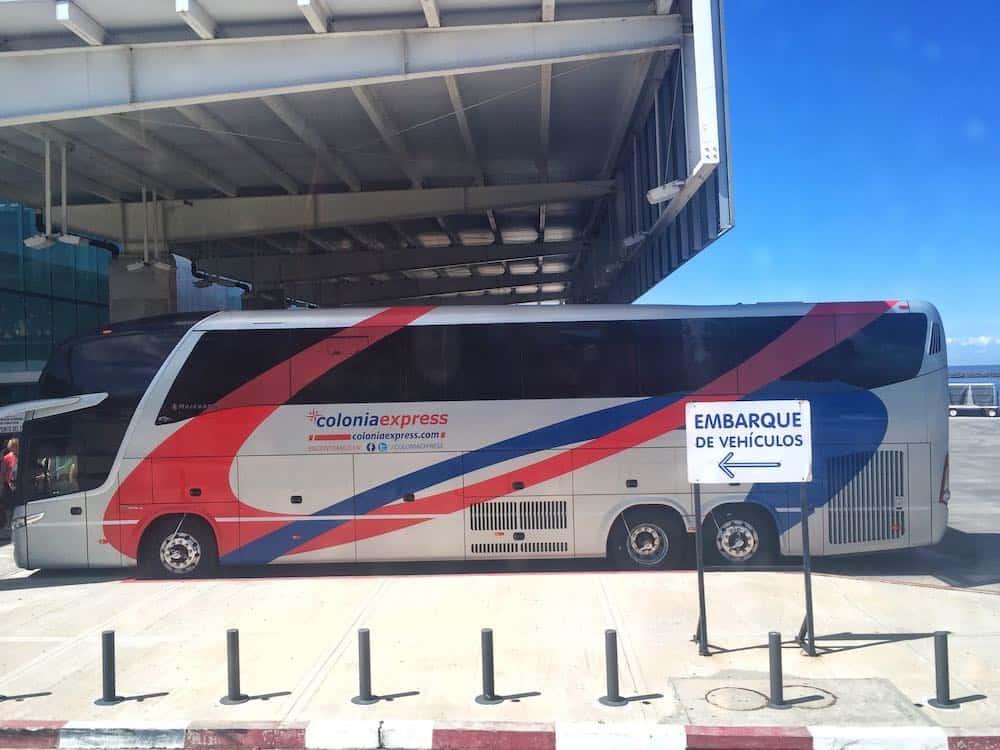 Colonia Express bus Uruguay