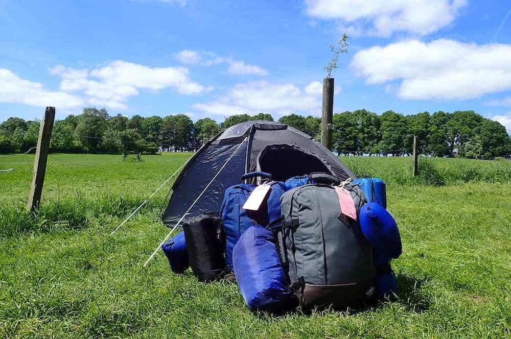 West Highland Way camping gear