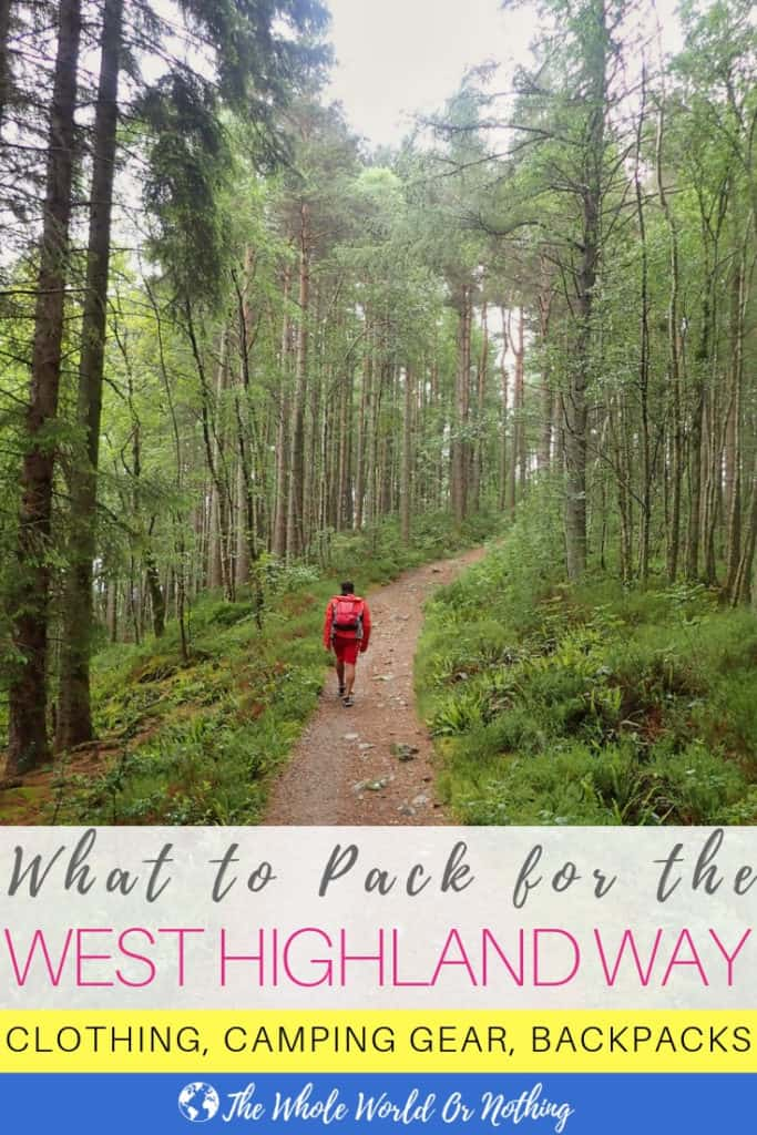What to Pack for the West Highland Way Pin