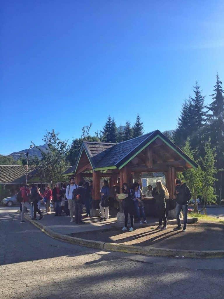 Arrayanes bus stop in Villa la Angostura